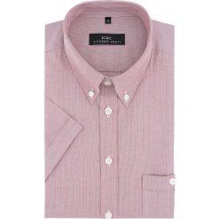 Koszula SERGIO Slim 16-03-06. Brązowe koszule męskie na spinki marki QUECHUA, m, z elastanu, z krótkim rękawem. Za 149,00 zł.