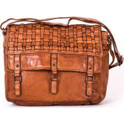 Torebki klasyczne damskie: Skórzana torebka w kolorze brązowym – 32 x 26 x 10 cm