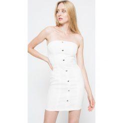 Missguided - Sukienka. Szare sukienki mini marki Missguided, na co dzień, z haftami, z poliesteru, casualowe, dopasowane. W wyprzedaży za 79,90 zł.