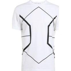 T-shirty męskie: Neil Barrett BLACKBARRETT SYMMETRIC LINES CREW NECK Tshirt z nadrukiem white/black