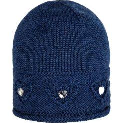 Giamo - Czapka. Niebieskie czapki zimowe damskie Giamo, na zimę, z dzianiny. W wyprzedaży za 59,90 zł.