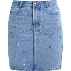 Minispódniczki: Missguided STAR EMBELLISHED SKIRT Spódnica jeansowa blue