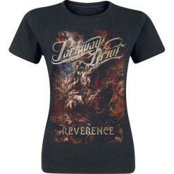 Parkway Drive Reverence - Cover Koszulka damska czarny. Czarne bluzki asymetryczne Parkway Drive, s, z nadrukiem, z okrągłym kołnierzem. Za 74,90 zł.