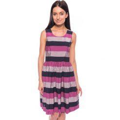 Sukienki hiszpanki: Rozkloszowana sukienka w paski BIALCON