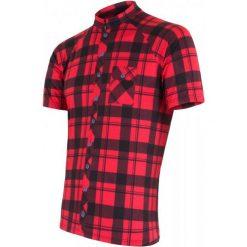 Sensor Koszulka Rowerowa Square Red M. Czerwone odzież rowerowa męska Sensor, m. Za 179,00 zł.