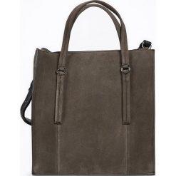 """Torebki i plecaki damskie: Skórzany shopper bag """"FortyThree"""" w kolorze szarym – 32 x 34 x 12,5 cm"""