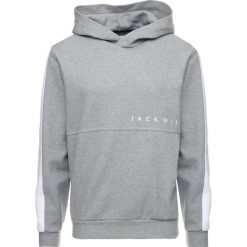 Bejsbolówki męskie: Jack Wills LANGLEY COLOUR BLOCK HOODIE Bluza z kapturem mottled grey