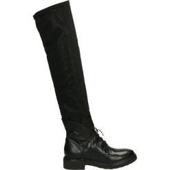 Kozaki - 132308 NERO. Czarne buty zimowe damskie marki Venezia, z materiału, na obcasie. Za 639,00 zł.