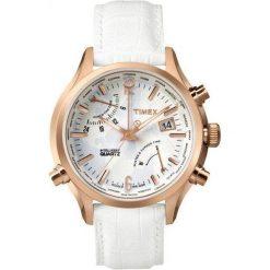 Zegarek Timex Damski  TW2P87800 IQ Traveller World Time biały. Białe zegarki damskie Timex. Za 472,00 zł.