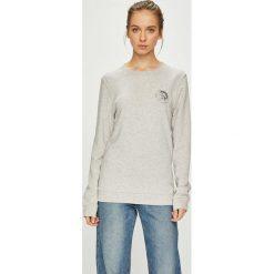 Diesel - Bluza. Szare bluzy damskie Diesel, l, z nadrukiem, z bawełny, bez kaptura. Za 229,90 zł.