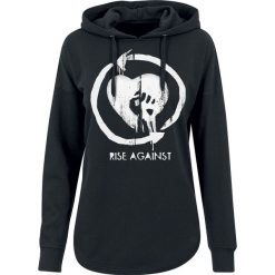 Bluzy rozpinane damskie: Rise Against Heart Logo Bluza z kapturem damska czarny