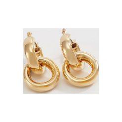 Kolczyki damskie: Whistles DOUBLE TUBE HOOP EARRING Kolczyki goldcoloured