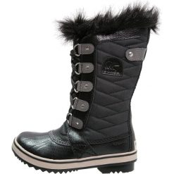 Sorel TOFINO II Śniegowce black/quarry. Czarne buty zimowe chłopięce Sorel, z materiału. W wyprzedaży za 399,20 zł.