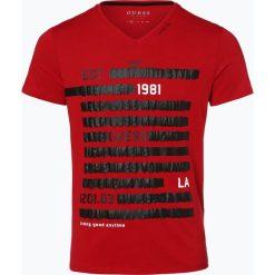 Guess Jeans - T-shirt męski, czerwony. Szare t-shirty męskie z nadrukiem marki Guess Jeans, l, z bawełny. Za 129,95 zł.
