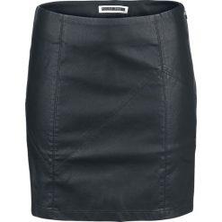 Spódniczki: Noisy May Rebel PU Short Skirt Spódnica czarny