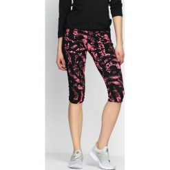 Spodnie damskie: Czarno-Różowe Legginsy Playtime