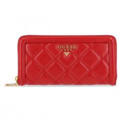 Guess Portfel Damski Czerwony. Czerwone portfele damskie Guess, z aplikacjami. Za 499,00 zł.