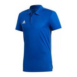 Adidas Koszulka męska CORE 18 Polo niebieska r. S (CV3590). Niebieskie koszulki do piłki nożnej męskie Adidas, m. Za 79,00 zł.