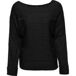 Sweter z dekoracyjnym zamkiem bonprix czarny. Czarne swetry klasyczne damskie bonprix. Za 89,99 zł.