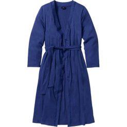 Szlafrok z dzianiny shirtowej bonprix kobaltowy. Niebieskie szlafroki kimona damskie bonprix, w paski, z dzianiny. Za 74,99 zł.