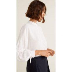 Mango - Bluzka Laju. Szare bluzki asymetryczne Mango, l, z materiału, eleganckie, ze stójką. Za 139,90 zł.