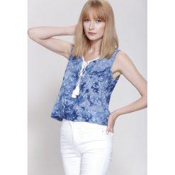 Bluzki damskie: Niebieska Bluzka  Blond Venus
