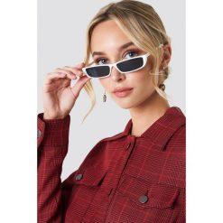 Okulary przeciwsłoneczne damskie: NA-KD Trend Prostokątne okulary przeciwsłoneczne – White