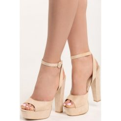 Rzymianki damskie: Beżowe Sandały Korel