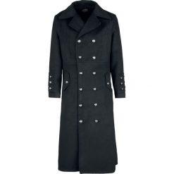 H&R London Classic Military Coat Płaszcz czarny. Czarne płaszcze na zamek męskie H&R London, xl, z aplikacjami, z materiału. Za 527,90 zł.