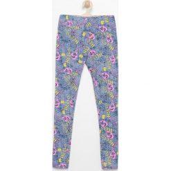 Legginsy dziewczęce: Wzorzyste legginsy – Niebieski