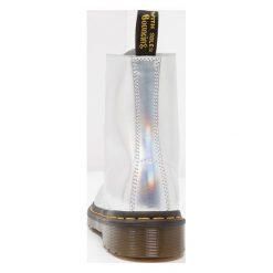 Botki damskie lity: Dr. Martens PASCAL 8 EYE BOOT Botki sznurowane silver/lazer reflective/metallic