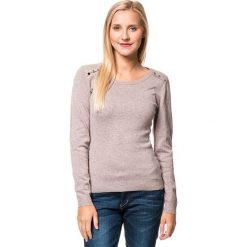 Sweter w kolorze beżowym. Brązowe swetry klasyczne damskie William de Faye, z kaszmiru. W wyprzedaży za 129,95 zł.