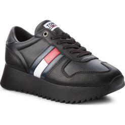Sneakersy TOMMY JEANS - High Cleated Sneaker EN0EN00288 Black 990. Czarne sneakersy damskie Tommy Jeans, z jeansu. Za 449,00 zł.