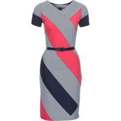 Sukienki: Sukienka bonprix ciemnoniebiesko-biało-koralowy