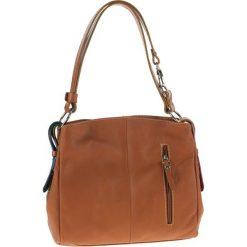 Torebki klasyczne damskie: Skórzana torebka w kolorze brązowym – 39 x 25 x 10 cm