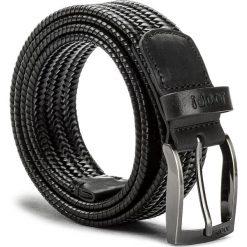 Pasek Męski JOOP! - 7216 100 Black A01. Czarne paski męskie marki JOOP!, w paski, ze skóry. W wyprzedaży za 299,00 zł.
