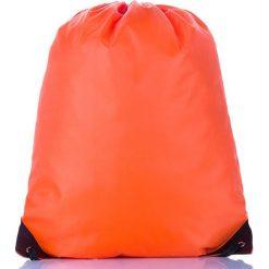 Pomarańczowy Młodzieżowy szkolny plecak worek. Szara plecaki męskie marki KIPSTA, z materiału, młodzieżowe. Za 14,90 zł.