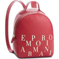 Plecak EMPORIO ARMANI - Y3L020 YH60A 80133  Ruby Red. Szare plecaki damskie marki Emporio Armani, l, z nadrukiem, z bawełny, z okrągłym kołnierzem. Za 1139,00 zł.
