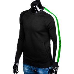 BLUZA MĘSKA BEZ KAPTURA B870 - CZARNA. Czarne bluzy męskie rozpinane Ombre Clothing, m, z bawełny, bez kaptura. Za 69,00 zł.