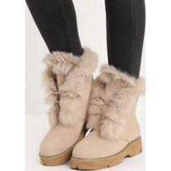 Beżowe Traperki Respectfully. Brązowe buty zimowe damskie Born2be, z okrągłym noskiem, na płaskiej podeszwie. Za 89,99 zł.