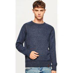 Sweter - Granatowy. Niebieskie swetry klasyczne męskie marki Reserved, m. Za 99,99 zł.