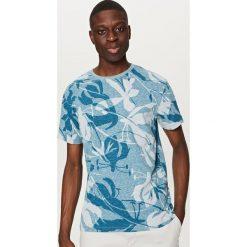 T-shirty męskie z nadrukiem: T-shirt z nadrukiem all over – Turkusowy