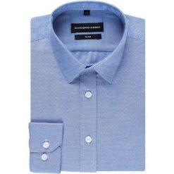 Koszula SIMONE KDNS000258. Niebieskie koszule męskie na spinki Giacomo Conti, m, z klasycznym kołnierzykiem, z długim rękawem. Za 149,00 zł.
