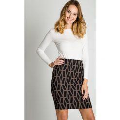 Spódniczki: Krótka spódnica w geometryczny wzór BIALCON