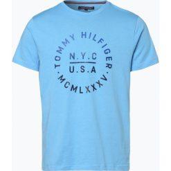 Tommy Hilfiger - T-shirt męski, niebieski. Niebieskie t-shirty męskie z nadrukiem TOMMY HILFIGER, m. Za 179,95 zł.