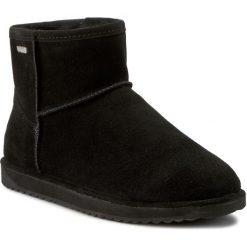 Buty EMU AUSTRALIA - Paterson Mini W10946  Black 2016. Czarne buty zimowe damskie EMU Australia, z gumy, za kostkę. W wyprzedaży za 419,00 zł.