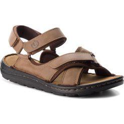 Sandały LANETTI - MSA692-1 Khaki. Brązowe sandały męskie skórzane Lanetti. Za 89,99 zł.