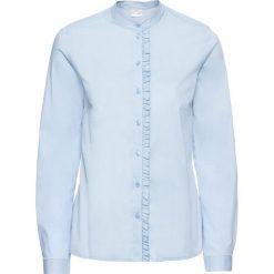 Bluzki damskie: Bluzka z falbanami bonprix pudrowy niebieski