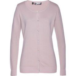Sweter rozpinany bonprix matowy jasnoróżowy. Czerwone swetry rozpinane damskie marki bonprix. Za 54,99 zł.