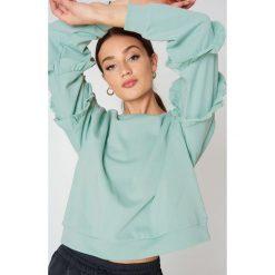 Bluzy rozpinane damskie: Glamorous Bluza z rękawem z falbankami - Green